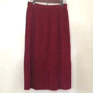 Vintage Knit Pleated Midi Skirt XL XXL